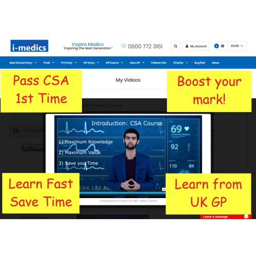 How to Pass the MRCGP CSA exam (Online Course)