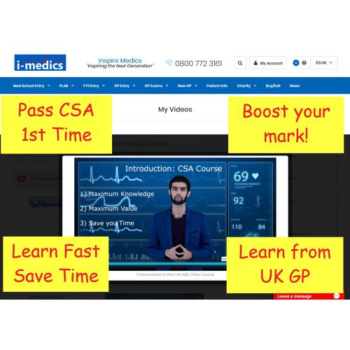 How To Pass The MRCGP CSA Exam: Video Course