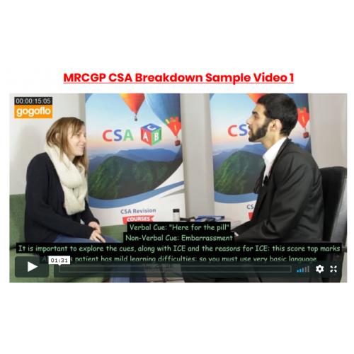 MRCGP CSA Gold Standard Consultation Videos